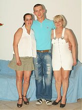 Juliana and Elizabeth are horny older women having a nice threesome show with a younger guy
