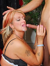 Joanna Depp invites a guy into her dressing room and bones him in front of a live cam