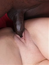 Fat brunette wife Maxia gets her hungry holes filled by a black dick in an interracial scene